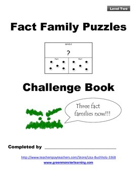 Fact Family Puzzles: Level Two