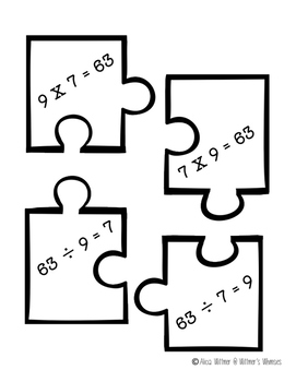 Fact Family Puzzles {Multiplication and Divison} + BONUS game!