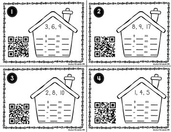 Fact Family QR Code Task Cards