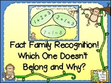 Fact Family Recognition Which One Doesn't Belong and Why