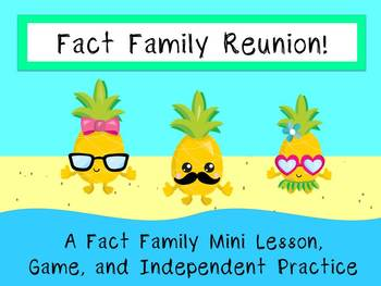 Fact Family Reunion: A Mini Lesson, Game, and Independent Practice!