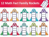 Fact Family Rockets Clipart