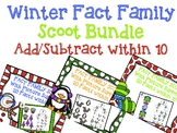 Fact Family Scoot - Winter Addition and Subtraction Scoot within 10 Bundle