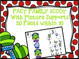 Fact Family Scoot - Winter Monster Addition and Subtraction Scoot within 10