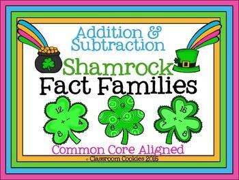 Fact Family Shamrocks--Addition & Subtraction