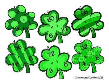 Fact Family Shamrocks--Multiplication & Division--3.OA.6 & 3.OA.7