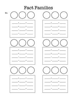 Fact Family Sheet (Blank)