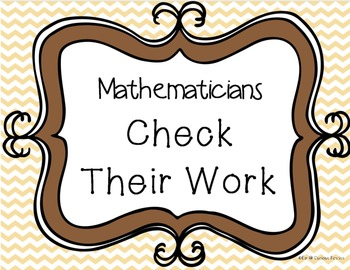 Fact Family Sheets to Check Your Work With