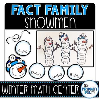 Fact Family Silly Snowmen