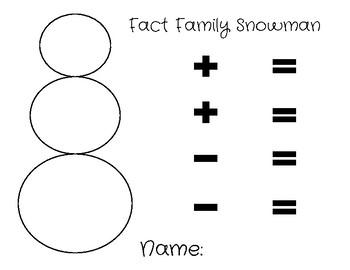 Fact Family Snowman