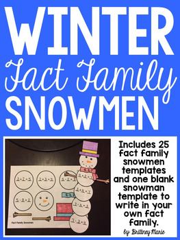 Fact Family Snowmen