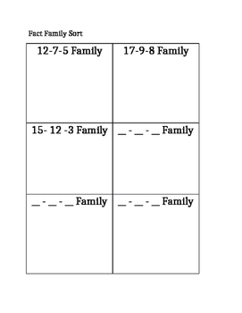 Fact Family Sort