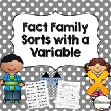 Fact Family Sorts with a Variable