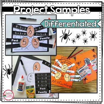 Fall Math Spider Craft with Fact Families