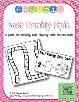 Fact Family Spin (2s tables) - Instant Math Workshop Center