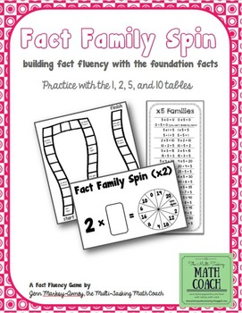 Fact Family Spin (Foundation Facts - x1,2,5,10) - Instant Math Workshop Center
