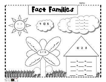 Fact Family Picture Activity
