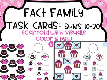 Fact Family Task Cards - Sums of 10-20