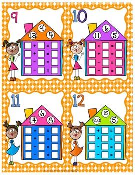Fact Family Task Cards for 1st Grade