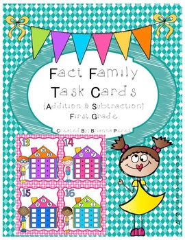 Fact Family Task Cards for 1st Grade