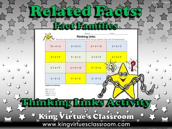 Fact Family Thinking Links - Fact Families - Addition Subtraction Related Facts
