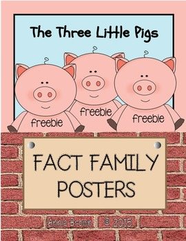 Fact Family Three Little Pigs Posters  FREE