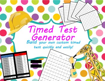 Fact Family Timed Test Generator for Add, Sub, Mult & Div