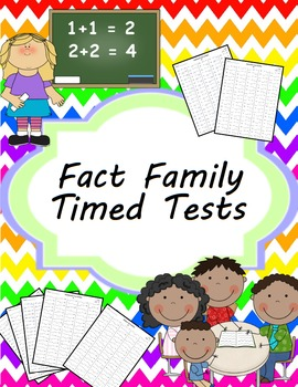 Fact Family Timed Tests Addition, Subtraction, Multiplication, Division & Mixed