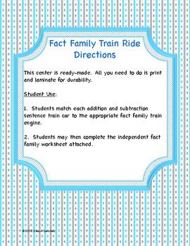 Fact Family Train Ride- Making 9