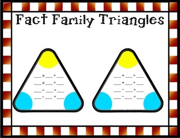 Fact Family Triangle Cards