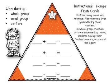 Fact Families Flash Cards (Triangles) and Activity Sheets (+ and - up to 20)