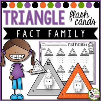 Fact Family Triangle Flash Cards and Activity Sheets {+, - to 20}