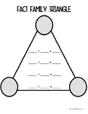 Fact Family Triangle Whiteboards