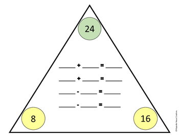 Fact Family Triangles
