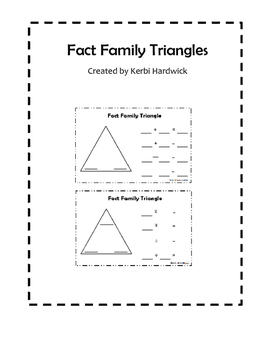 Fact Family Triangles FREEBIE