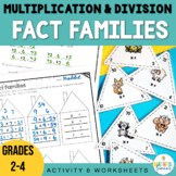 Fact Family Multiplication and Division Triangles