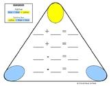 Fact Family Triangular Board Add/Subtract