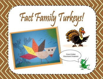 Fact Family Turkeys!! Complete Pattern and Instructions