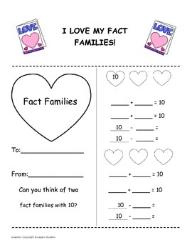 Fact Family Valentine