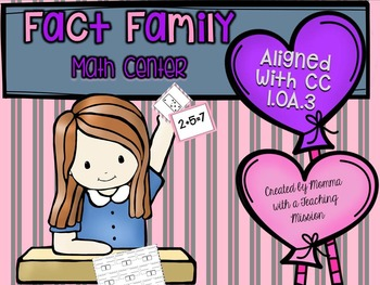 Fact Family Valentines Day Math Center