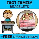 Math Fact Family Activity Bracelets