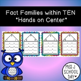 Fact Family Within Ten Center Cards
