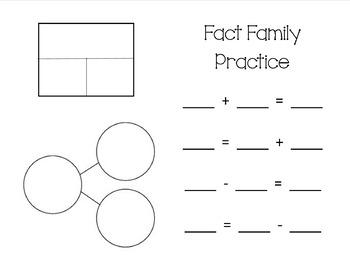 Fact Family Work Mat