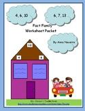 Fact Family Worksheet Packet