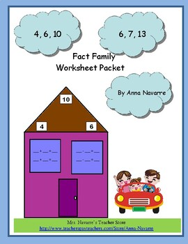 Fact Family Worksheet Packet