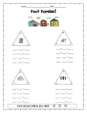 Fact Family Worksheet - fact triangles