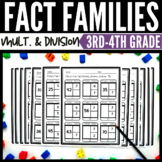 Fact Family Worksheets Multiplication and Division 3rd Grade