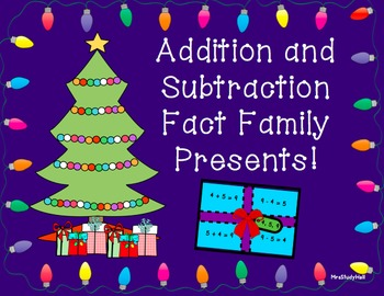 Fact Family addition and subtraction