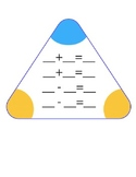 Fact Family blank triangle wipe off boards