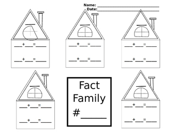 Fact Family for Addition